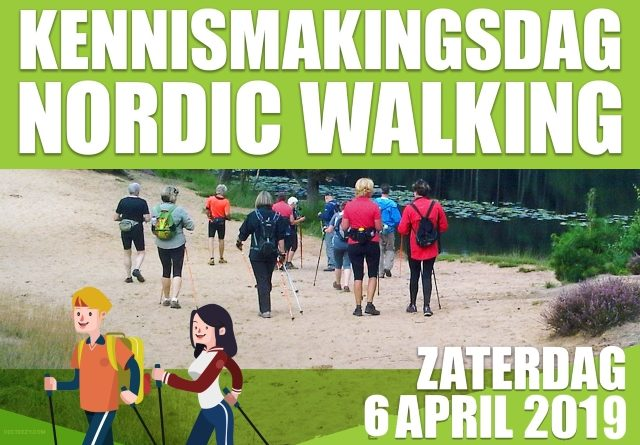 6 April, Kennismakings dag Nordic Walking